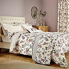 V & A - Multicoloured 'Birds of Paradise' bed linen set