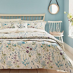 V & A - Blue cotton 'Blythe Meadow' bedding set