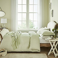 Helena Springfield - Pale green 'Chatsworth' bed linen set