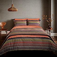 Harlequin - Dark purple patterned 'Chevron' bedding set