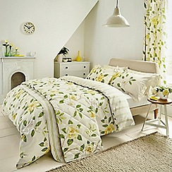 Sanderson - Yellow floral 'Christabel' bedding set