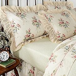 Helena Springfield - Cream polycotton 'Chestnut Hill' flat sheet