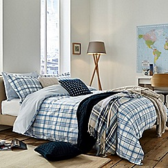 Peacock Blue Loft Collection - Blue 'Carter' bed linen set