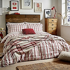 Peacock Blue Loft Collection - Red 'Carter' bed linen set
