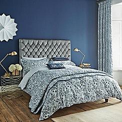 V & A - Blue 'Dianthus' bed linen set
