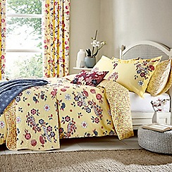 V & A - Yellow cotton 'Emiri' bedding set