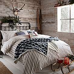 Peacock Blue Loft Collection - Multicoloured 'Flynn' bed linen set
