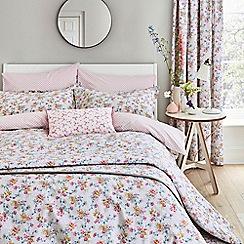 V & A - Multicoloured cotton 'Honeysuckle Trail' bedding set
