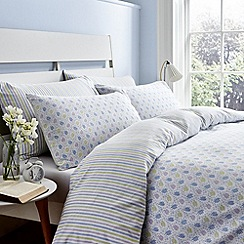 Helena Springfield - Blue brushed cotton 'Holly' bedding set