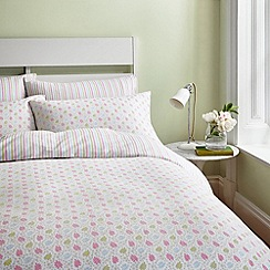 Helena Springfield - Green brushed cotton 'Holly' bedding set