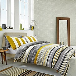 Scion - Grey 'Lace Stripe' bed linen set