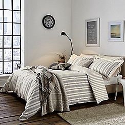 Peacock Blue Loft Collection - Light grey 'Oakley' bed linen set