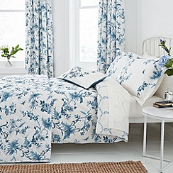 Sanderson - Blue 'Primrose hill' bed linen