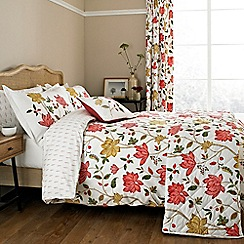 Sanderson - Red 'Pondicherry' bed linen set
