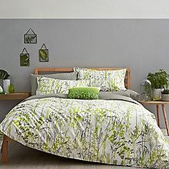 Clarissa Hulse - Light green cotton 'Prairie' bedding set