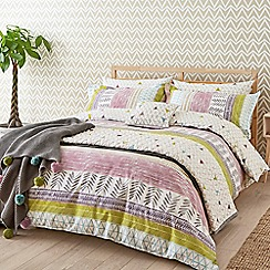 Scion - Multicoloured cotton 'Raita Stripe' bedding set