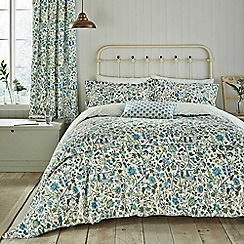 Sanderson - Blue cotton 'Sita' bedding set