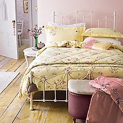 V & A - Light yellow cotton 'Springtime Posey' bedding set