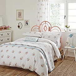V & A - Multicoloured 'Valencia rose' bed linen set