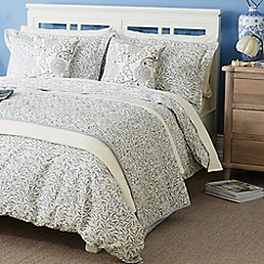Morris & Co - Blue cotton 'Willow Bough' bedding set