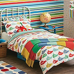 Scion Kids - Kids' white 'Up Periscope' single duvet cover and pillow case set