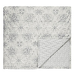 Bedeck 1951 - Grey cotton 'Altana' bedspread