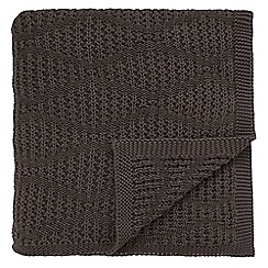 Bedeck 1951 - Grey cotton 'Altana' knitted throw