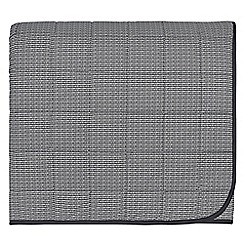 Harlequin - Dark grey cotton percale 180 thread count 'Blaze' throw