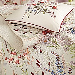 V & A - multicoloured 'blythe meadow' bed linen