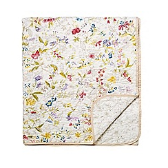 V & A - Multicoloured cotton 'Botanica' quilted bedspread
