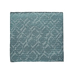 Bedeck 1951 - Light blue polyester and cotton 'Inca' quilted bedspread