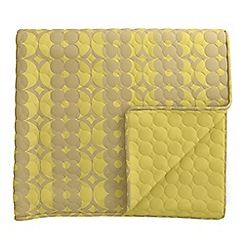 Helena Springfield - Yellow polyester and viscose 'Lula' quilted bedspread