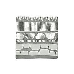 Scion - Grey cotton 'Seurata' knitted throw