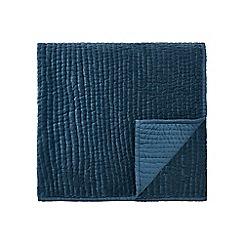 Harlequin - Blue cotton velvet 'Sumi' throw