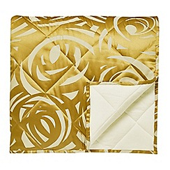 Harlequin - Gold viscose and polyester 249 thread count 'Vortex' throw