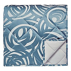 Harlequin - Blue viscose and polyester 249 thread count 'Vortex' throw