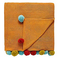 Scion - orange 'Anneke' throw