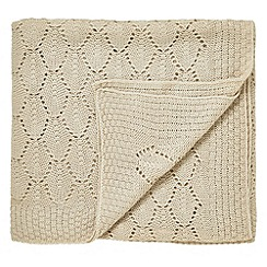 Helena Springfield - Natural 'Aria' knitted throw