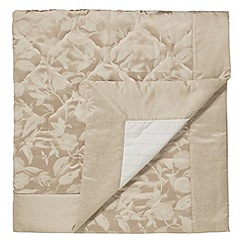 Sanderson - Natural 'Bird Blossom' quilted throw