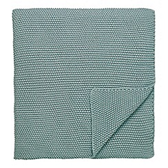 Hotel - Aqua cotton lurex 'Bellagio' throw