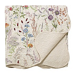 V & A - Multicoloured cotton 'Blythe Meadow' throw
