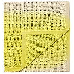 Clarissa Hulse - yellow 'Boston Ivy' throw