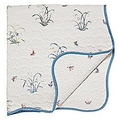 V & A - Multicoloured 'Butterfly Garden' throw