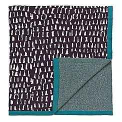Scion - Blue patterned 'Cedar' throw