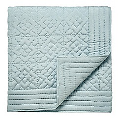 Fable - Light blue quilted 'Charbagh' throw