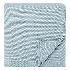Fable - Light blue 'Elba' throw