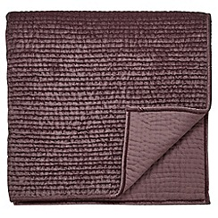 Fable - Dark purple viscose and cotton 'Ellora' throw