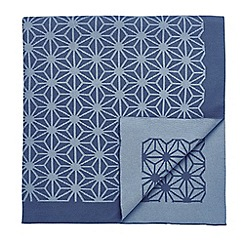 V & A - Blue cotton 'Emiri' knitted throw