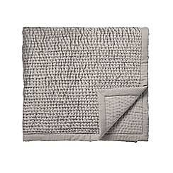 Fable - Grey viscose and cotton 'Jakarta' quilted bedspread