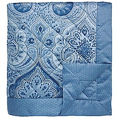 Echo - dark blue 'Jakarta' quilted throw